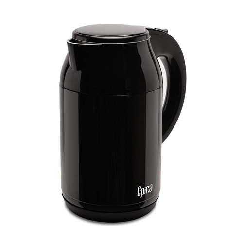 Epica 1.8 Quart 1.7 Liter Stay-Cool Double Wall Stainless Electric Steel Kettle