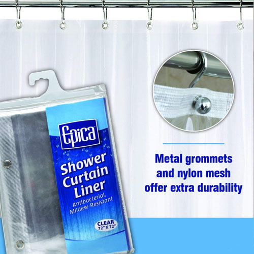 Epica Strongest Mildew Resistant Shower Curtain Liner 2