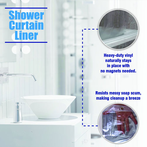 Epica Strongest Mildew Resistant Shower Curtain Liner 3